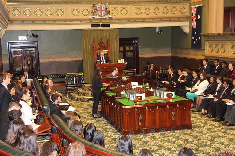Learning about leadership : YMCA NSW Youth Parliament 2015