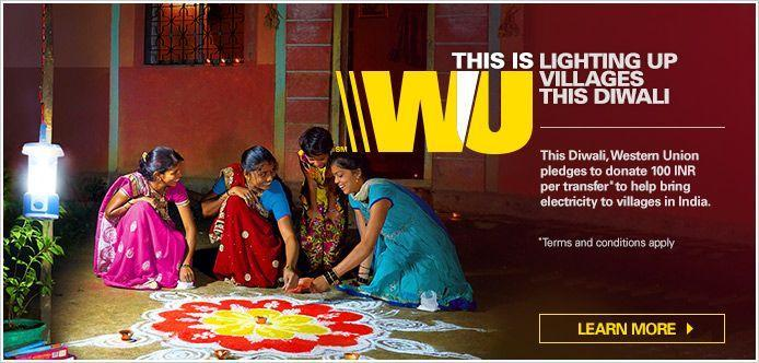 Watch : Western Union Light up villages this Diwali