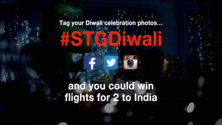 Happy Diwali : Tag your Diwali Celebration photos #STGDiwali and you could win flights for 2 to India