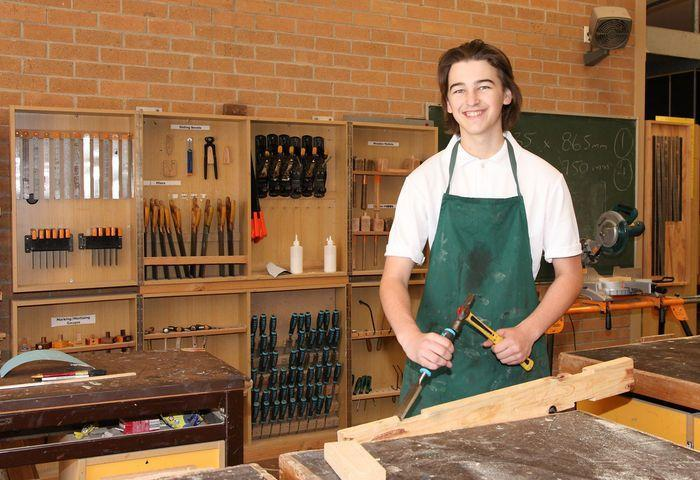 More School Students Learning A Trade