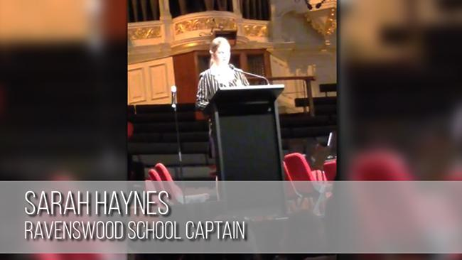 Private school captain's shocking speech goes viral