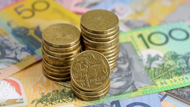 Aust dollar weaker against $US