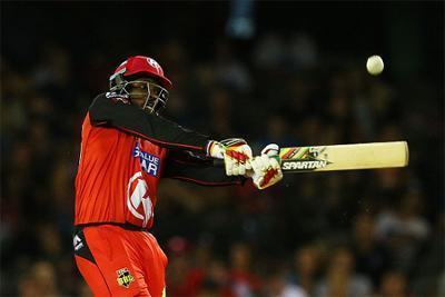 Chris Gayle smashes 12-ball fifty to equal world record