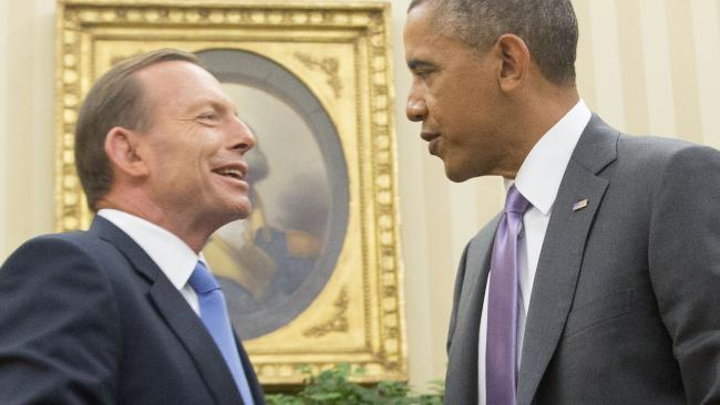 Abbott meets Obama and spy chief in US