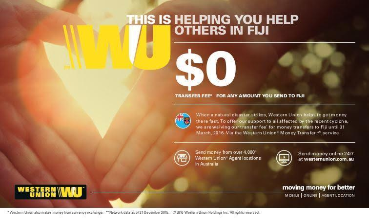 Western Union Responds with Support for Relief Efforts to the Victims of Super Cyclone Winston