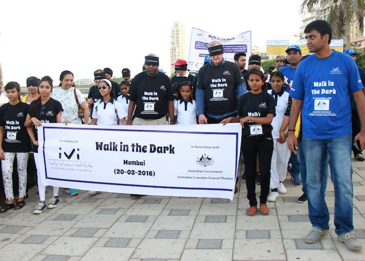 Mumbaikars Walk in the Dark to eradicate 'preventable' blindness