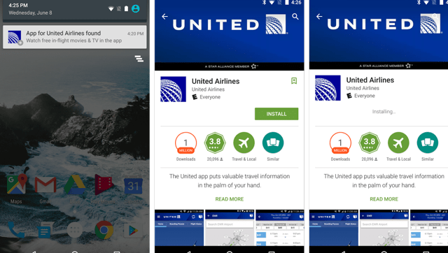 Google will now suggest apps and sites for the store, airport or bar you're at