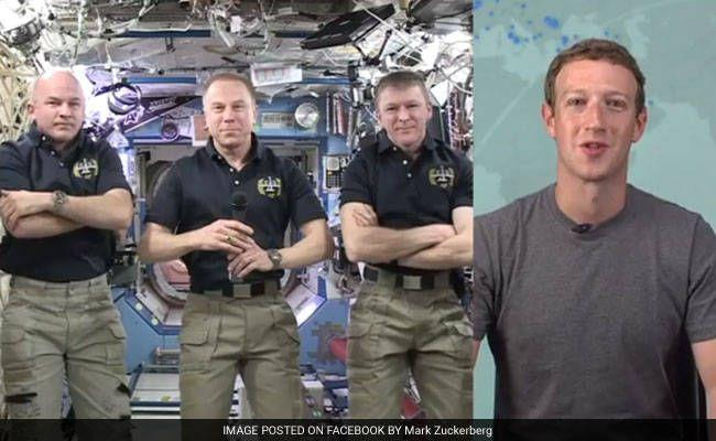 Mark Zuckerberg Streams Live Chat With Men In Space