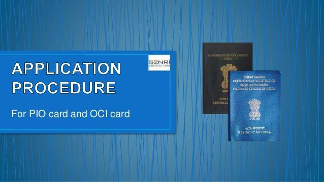 PIO card to OCI Card : Consulate General of India Sydney
