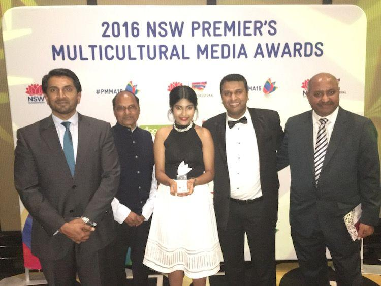 The Indian Telegraph wins Premier's Multicultural Media Awards 2016