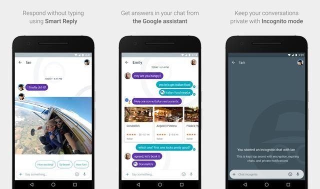You could share your location, photos and videos via Google's chat app Allo