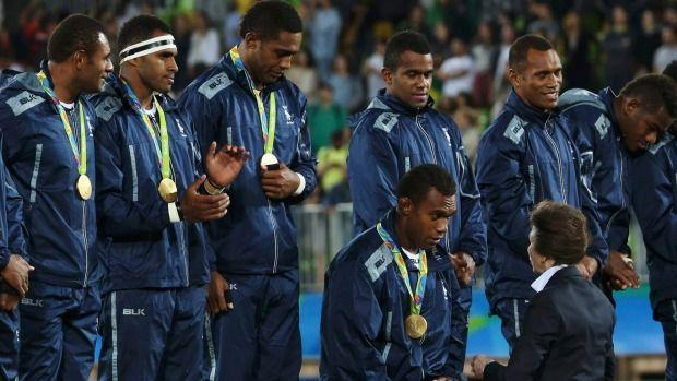 Fijian Rugby Sevens stars' humble final act