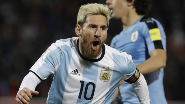 Lionel Messi scores on return to give 10-man Argentina 1-0 victory over Uruguay