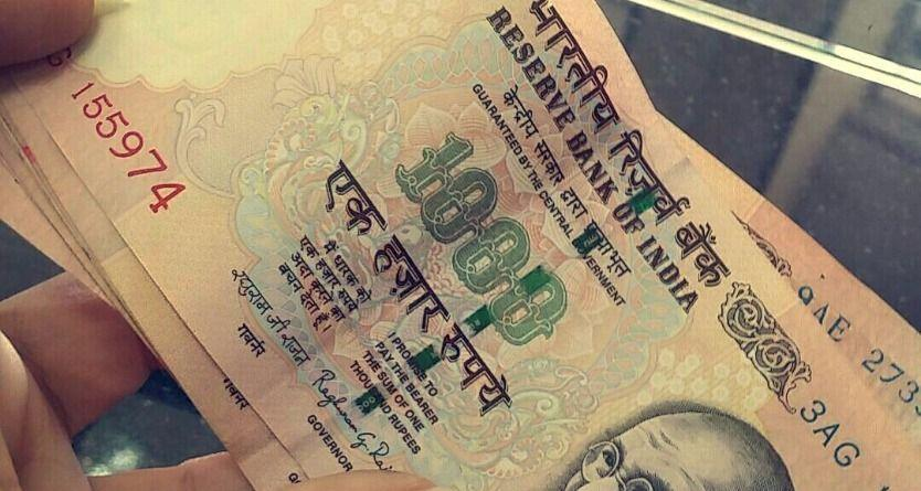 1000 rupee notes