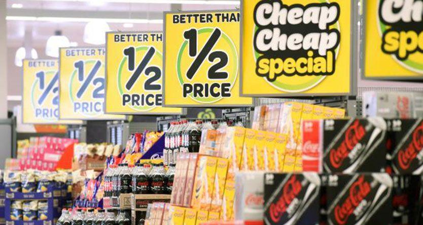 Food prices rise as discounting eases