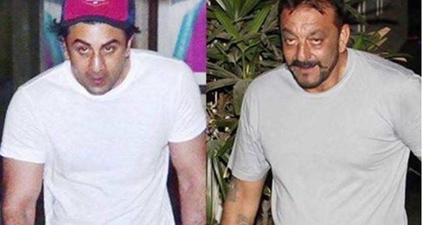 How Ranbir Kapoor transformed into Sanjay Dutt. These pics left us open-mouthed