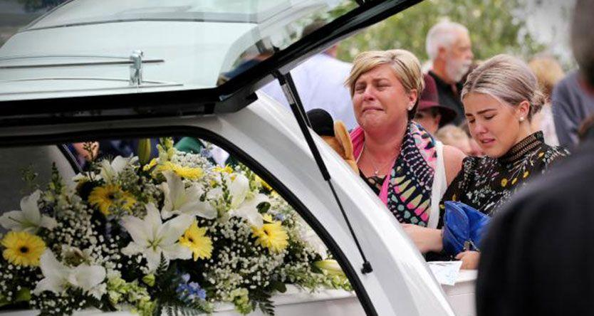 Tearful send-off for mum and twin son killed in Hume Highway horror smash on their way to school