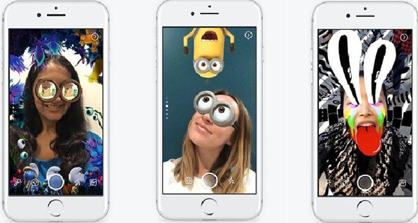 Facebook launches in-app camera effects to take Snapchat's augmented reality fun to masses