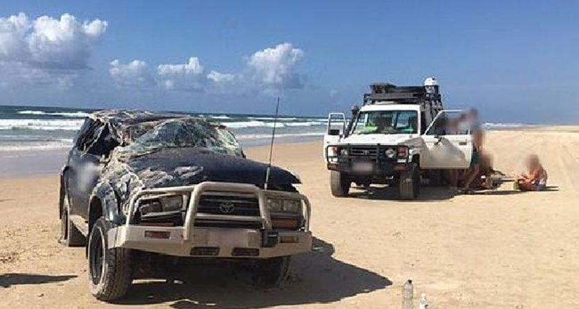 Serious injuries after minibus crash, two flown off Fraser Island after single-car crash
