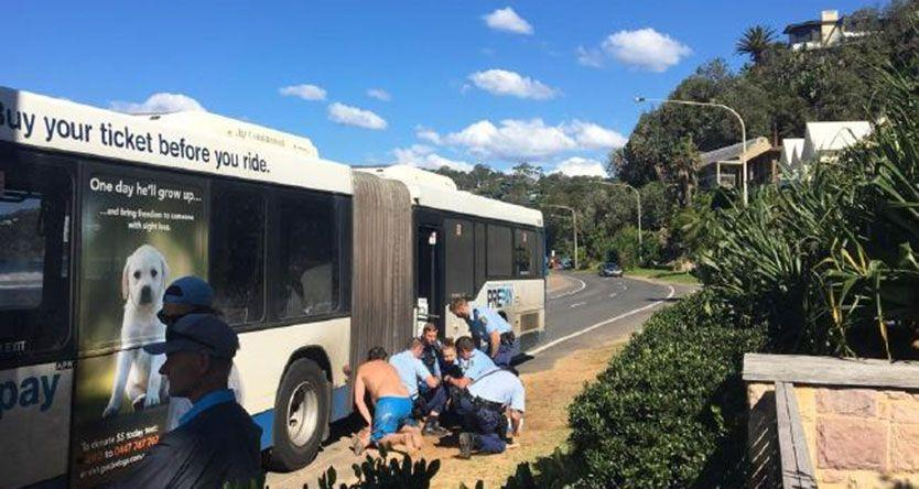 Five police involved in arrest of man on a bus at Palm Beach