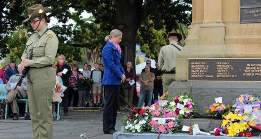 Vandals wreck wreaths laid for Anzac Day in New Norfolk