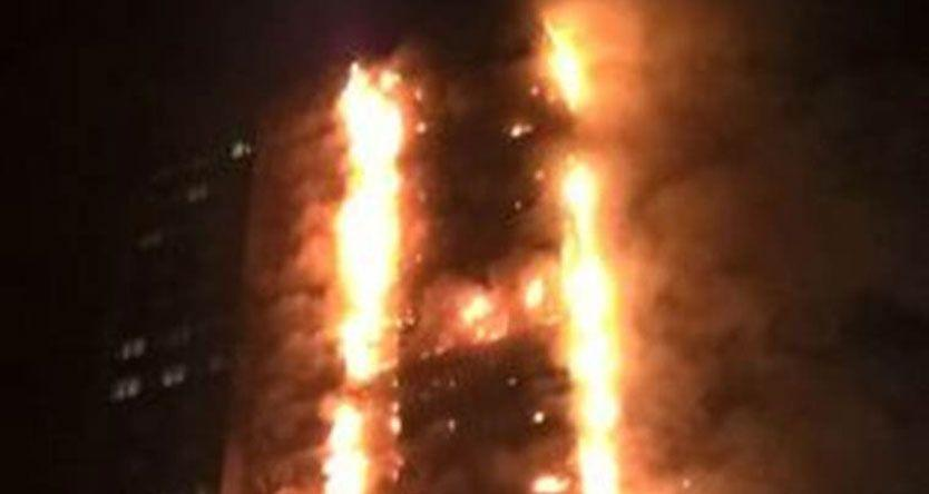 London fire: Massive flames engulf 27-storey tower, 200 firefighters at the spot