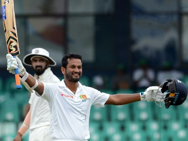 Sri Lanka's Dimuth Karunaratne scored the sixth Test century of his career.Source:AFP