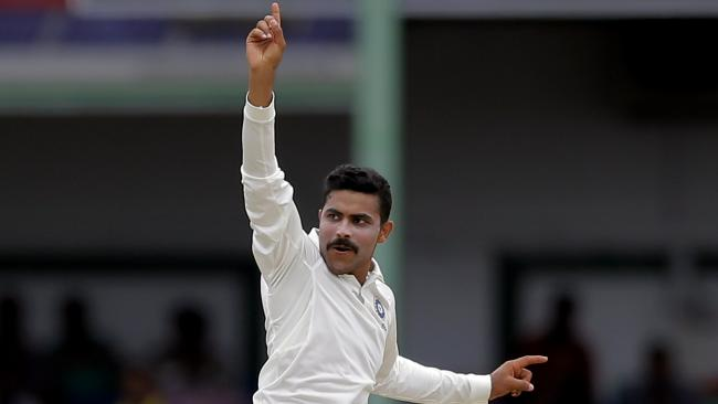 India's Ravindra Jadeja took a five-wicket haul to finish off the match.Source:AP