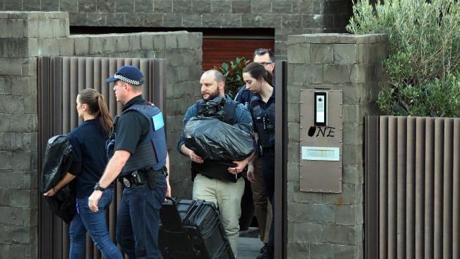 Police at Mr Ibrahim's house in Dover Heights today Picture: Richard DobsonSource:News Corp Australia