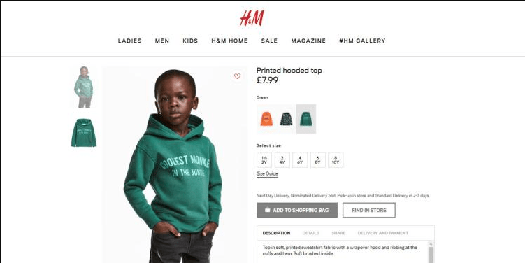 Racially Insensitive Product Photo Brings H&M On Its Knees