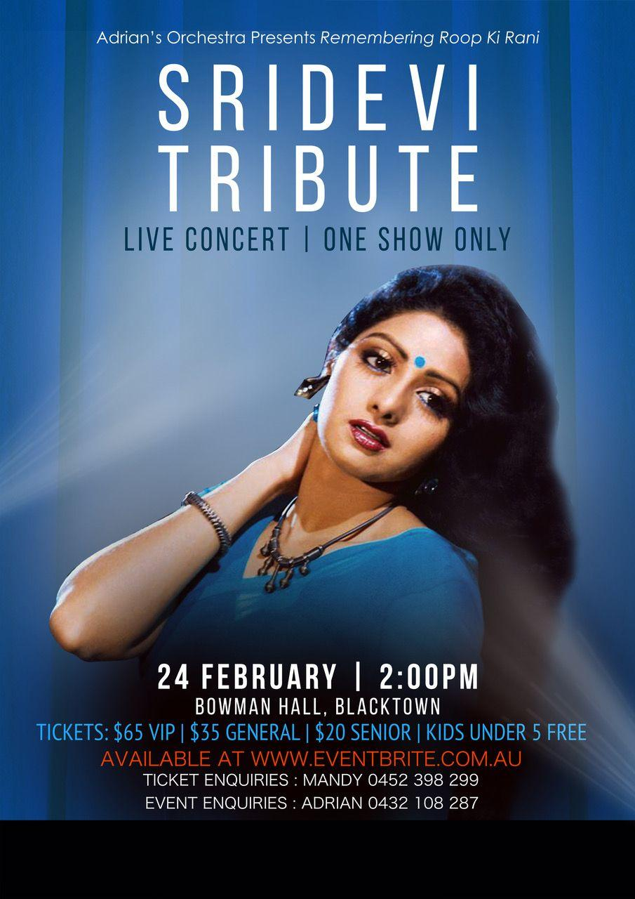 Australian Tribute for Sridevi's 1st Year Death Anniversary