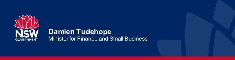 Damien Tudehope med rel - NSW Small Business Month back for third year