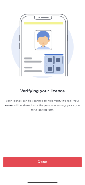 Service NSW verifying your licence