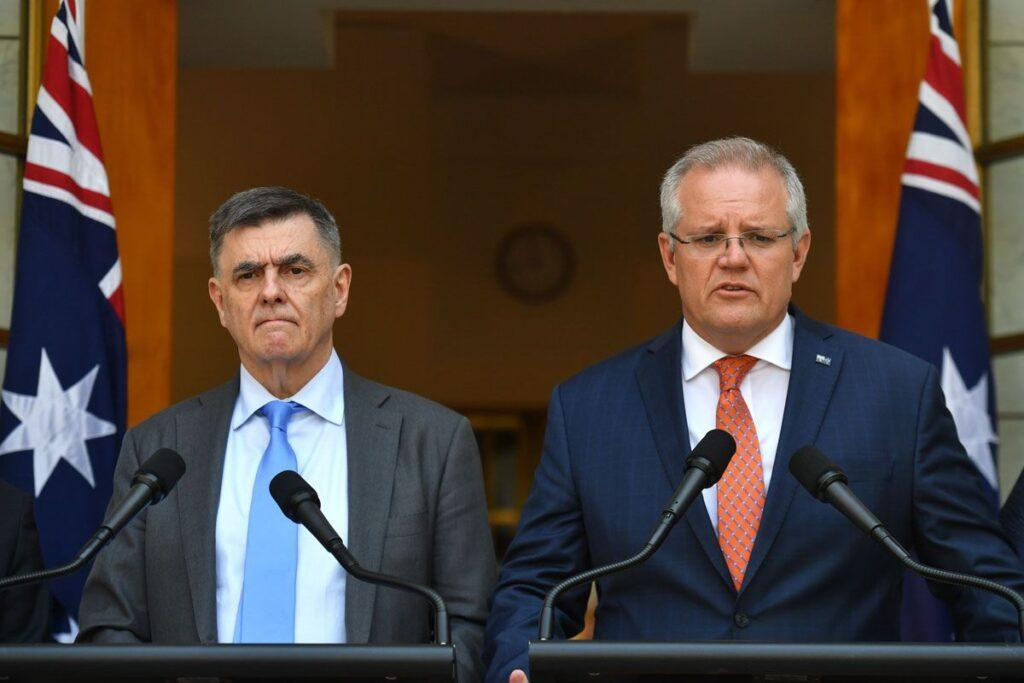 Chief-Medical-Officer-Professor-Brendan-Murphy-and-Prime-Minister-Scott-Morrison-give-an-update-on-the-coronavirus-on-Wednesday