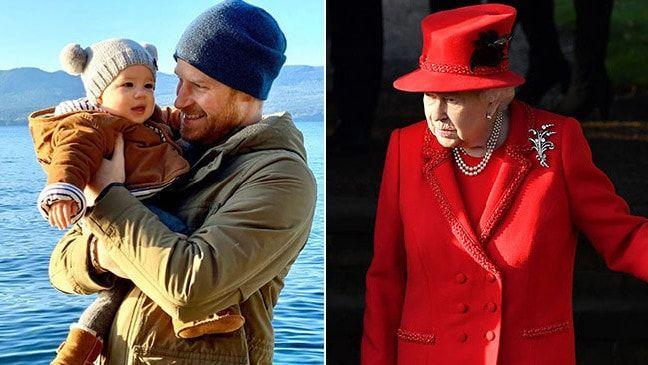 The Queen has seen little of her eighth great-grandson Archie, seen here with Harry in Canada