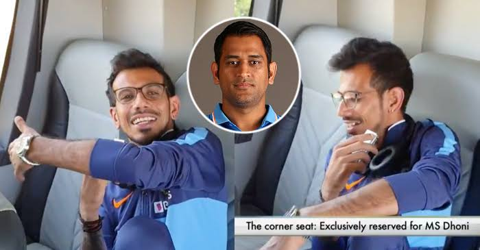 Yuzvendra-Chahal-MS-Dhoni-seat-in-bus