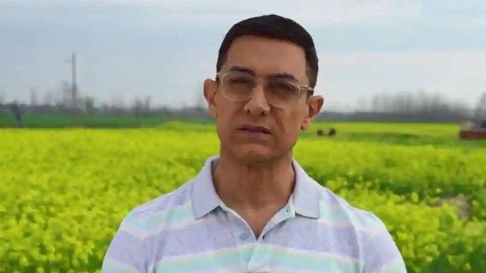 Aamir Khan in a screengrab from the video message