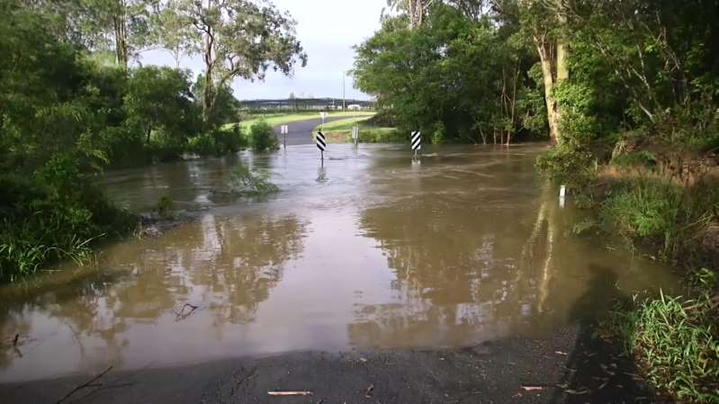 Coffs Harbour has been drenched overnight causing flooding