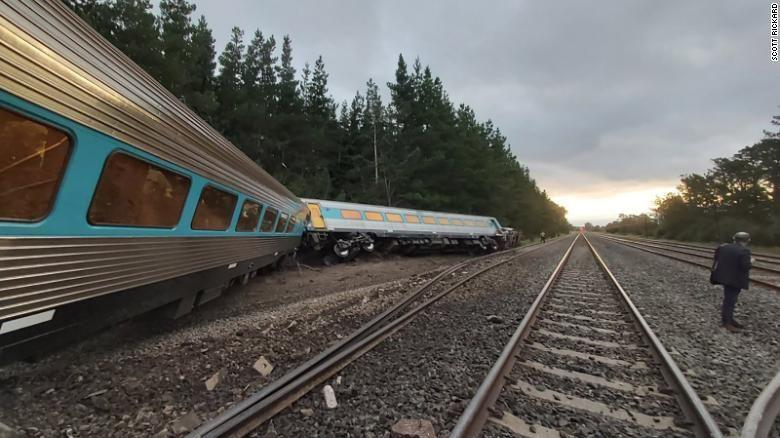 The train derailed north of Melbourne on Thursday evening