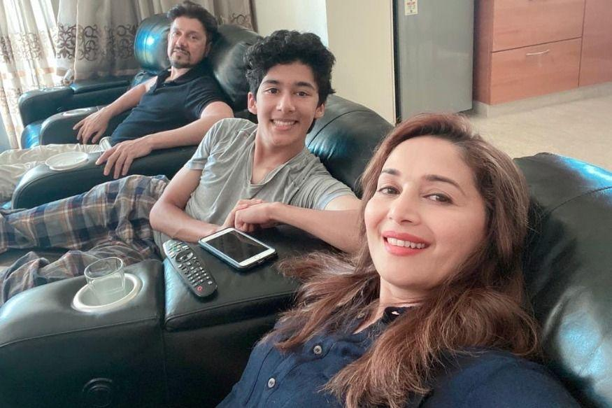 Madhuri Dixit Shares Most Adorable Selfie With Husband and Son As Family Self-Quarantines