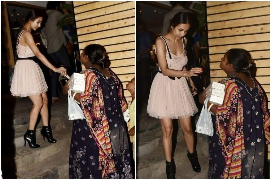 Malaika Arora Wins Hearts with Sweet Gesture as She Gives Money to Underprivileged Woman Outside Restaurant