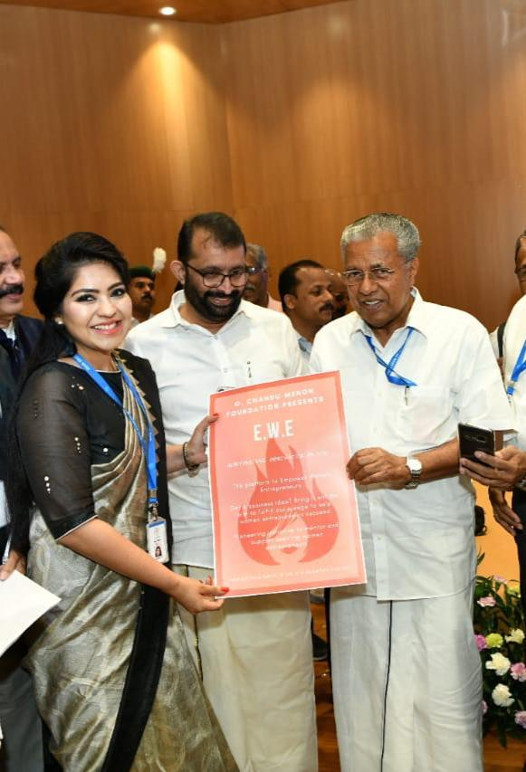 Dr Tanya Unni and Chief Minister Pinari Vijayan