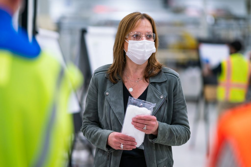 gm encouraging suppliers to produce face masks amid covid