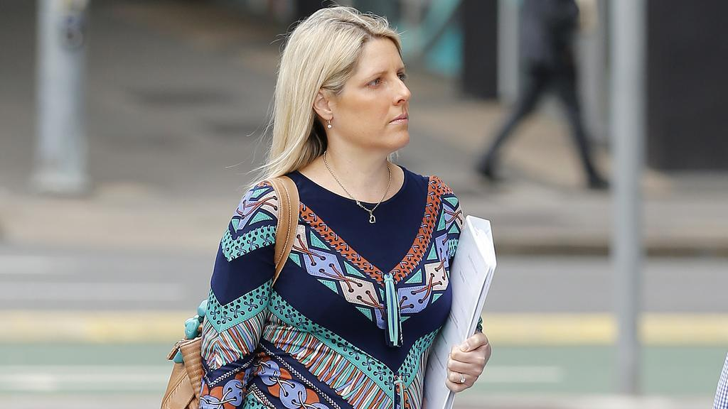 Carrie Curtis at the District Court in Brisbane last year