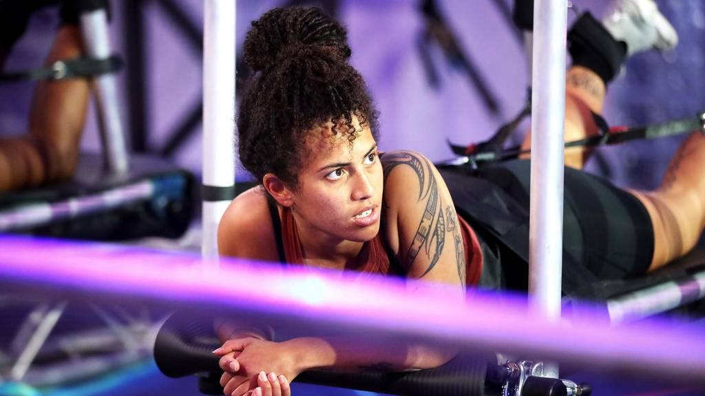 Laura Coriakula in the first Big Brother challenge
