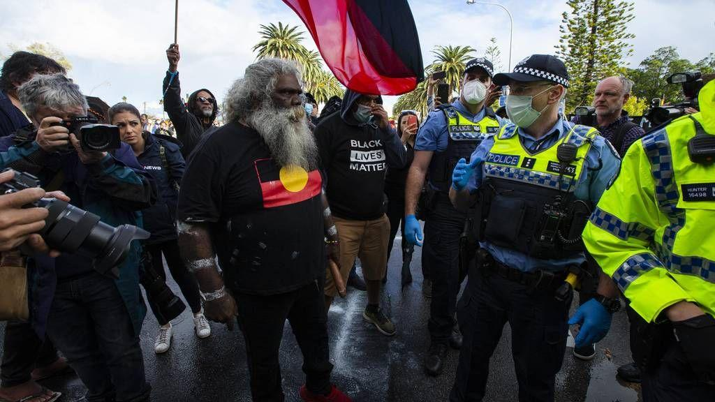 Pictures of Black Lives Matter Rally on Langley Park in Perth