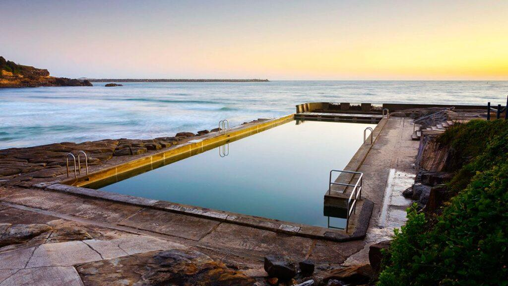 Sunrise at Yamba Ocean Pool