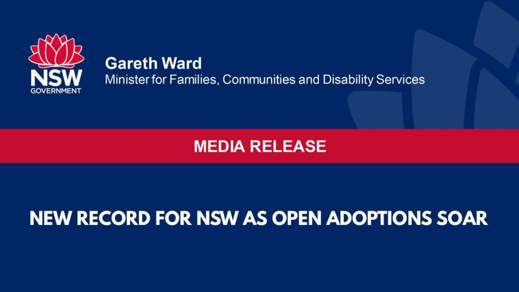 New record for NSW as open adoptions soar