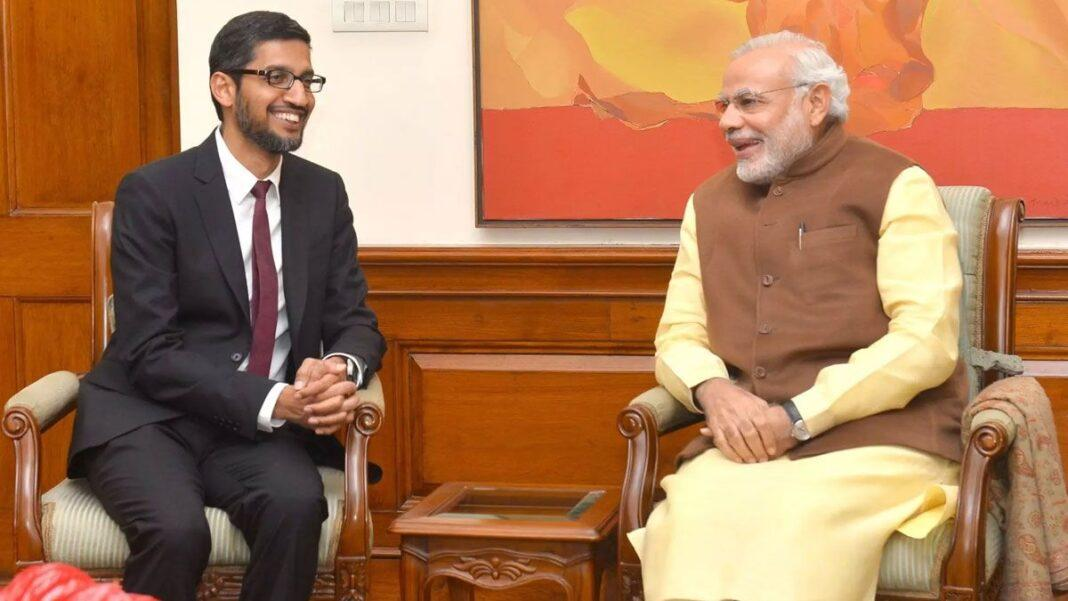 Prime Minister Narendra Modi on Monday interacted with Google Chief Executive Sundar Pichai on a wide range of subjects