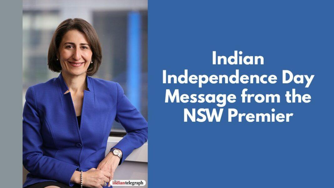 Indian Independence Day Message from the NSW Premier
